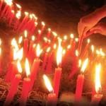 6.619 candele rosii in memoria celor care au murit de SIDA