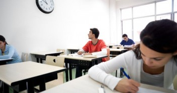 A classroom of middle-eastern students.