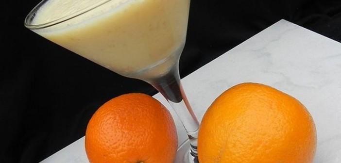 smoothie portocale banane