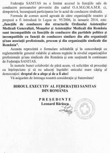 scrisoare deschisa SANITAS 2