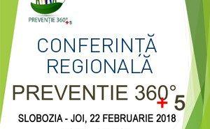 "Conferinta internationala/regionala ""Preventie 360 + 5"""