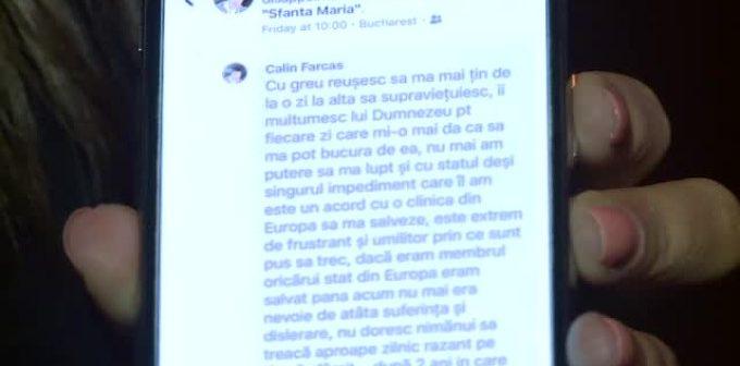 Calin Farcas a strans 200.000 de euro pentru un transplant de plamani, insa a fost prea tarziu