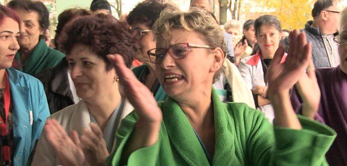 Protest pentru sustinerea lui Marius Craina la Spitalul Judetean (FOTO/VIDEO)