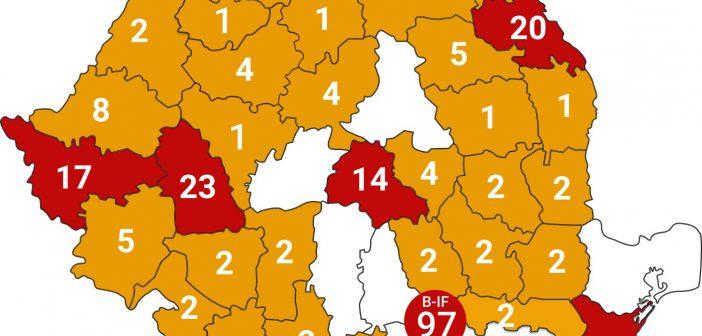 14 cazuri noi de infecție cu coronavirus, pe teritoriul României. Numărul total a ajuns la 260, în ultimele 24 de ore un numar de 43